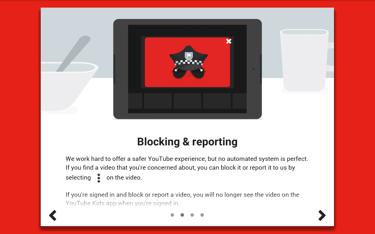Tutorial of Youtube Kids: How to block and report content