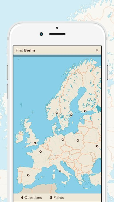 Screen App - Maps of our World (Europe)