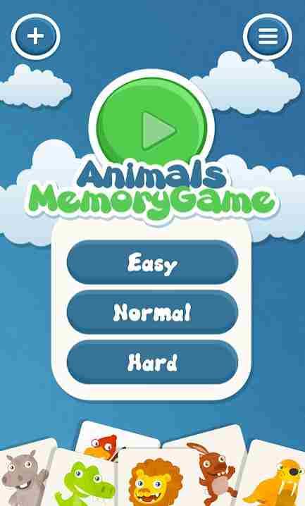 Memory-App-Animals-Startscreen